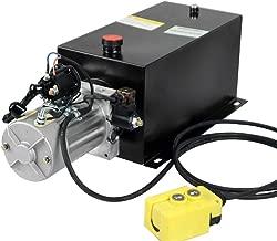 Fisters Hydraulic Pump Unit 16 Quart Single Acting Hydraulic Power 12V DC Steel Tank Hydraulic Pump Power Unit for Dump Trailer Car Lifting (16 Quart Steel Single Acting)