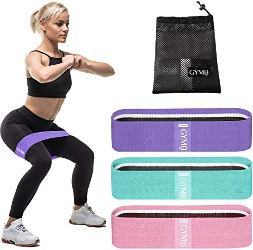 3 Fabric Resistance Bands for Legs and Butt Loop Exercise Bands Booty Workout Bands for Women product image