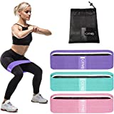 3 Fabric Resistance Bands for Legs and Butt, Loop Exercise Bands, Booty Workout Bands for Women,...