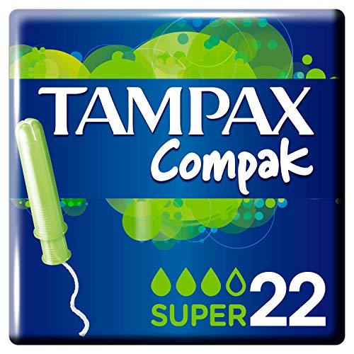 Tampax Compak Super Tampones Con Aplicador, Protección Antimanchas Y Discreción, Limpieza -...