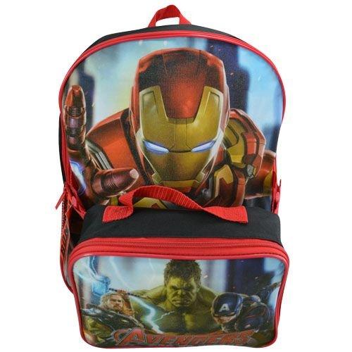 Marvel Avengers Age de Ultron 40,6 cm Grand Sac à Dos avec Sac de Déjeuner, Cartable, sac à dos, sac de voyage