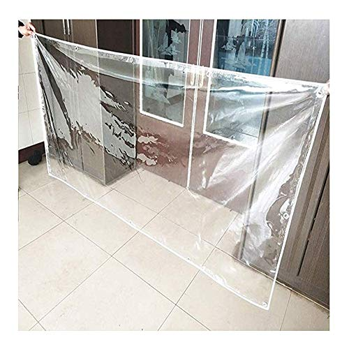 YONGQUAN Clear Tarps Heavy Duty Rip And Tear Proof Tarpaulin With Grommets And Reinforced Edges For Tarpaulin Canopy Tent, Boat, RV Or Pool Cover (Color : Clear, Size : 0.8×3m)