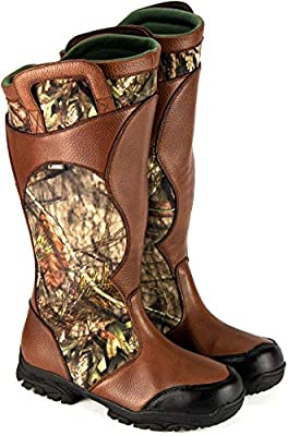 "Thorogood Men's Snake Bite 17"" Leather/Cordura Hunting Shoes, Mossy Oak Break Up Infinity, 10.5 M US"