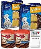 Pillsbury Yellow Cake Mix Pack of 2   Betty Crocker Milk Chocolate Frosting 2 Canisters   Pillsbury...