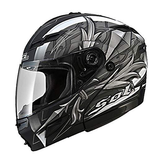 Casque moto double casque mâle et femelle casque intégral (Couleur : C-XL59-60CM)