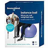 Balance Ball - No-Roll Weighted Seat is a Flexible Chair for School, Office or Home (Large, Purple)