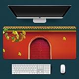 Alfombrilla de ratón XXL Alfombrilla Gaming para ratón 900x400x3mm Puerta roja clásica China Mouse Pad precisión y Velocidad Parte Inferior de Goma para una sujeción Estable Antideslizante Resistente