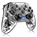 ZXZS Game Trasparent Game Collegamento Bluetooth Controller di Gioco Adatto per Interruttore Host/Pc/Dispositivi A Vapore/Android