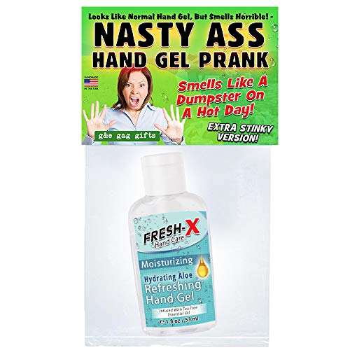 G&E Products Stinky Hand Sanitizer Prank - 2 oz - New Extra Stinky Version - Looks Normal But Smells...