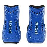 Espinilleras de fútbol ligero y transpirable para niños de 8 a 13 años (azul)