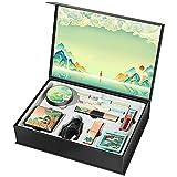 Conjunto de maquillaje de pintalabios de nueve piezas, cosméticos hidratantes y hidratantes duraderos, estilo chino único!