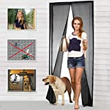 Magnetic Screen Door, Mesh Curtain - Keeps Mosquitoes Out - Full Frame Velcro - Toddler and Dog...
