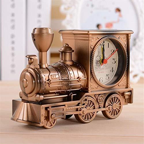 LucaSng Antike Wecker Kinder Geschenk Schlafzimmer Mechanische Uhr Uhr Kreative Klassische Bahnhofsuhr Büro Elektronische Uhr Gold 18 * 6 * 12 cm