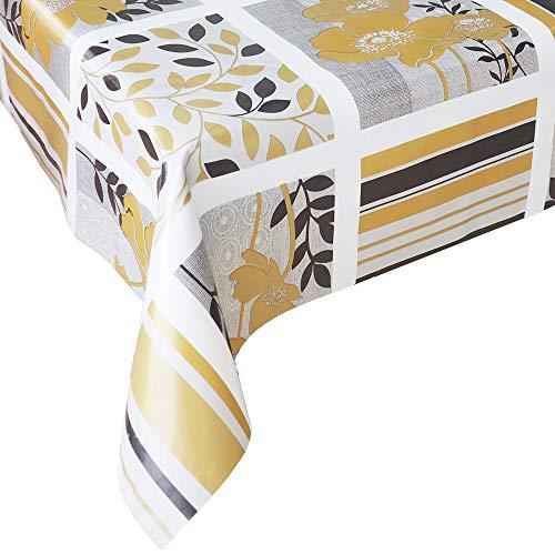 Mantel Hule Golden Classic • Mantel Antimanchas Resistente y Muy FACIL DE Limpiar • Mantel Mesa Rectangular en PVC • Hules para Mesas • Múltiples Diseños y Económicos • Medidas ( 120 cm x 140