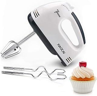 Batteur à main pour gâteau, batteur de nourriture avec mélangeur Turbo Boost/Self-Control 7 vitesses + 4 accessoires en ac...