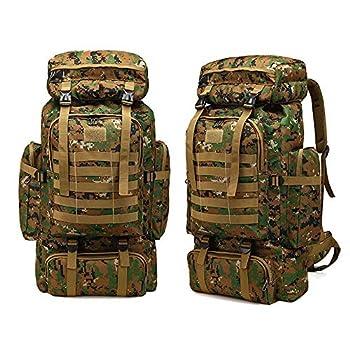 Greenpromise Sac à dos tactique militaire de grande capacité 80 L pour le camping, la randonnée, l'alpinisme, le camouflage imperméable