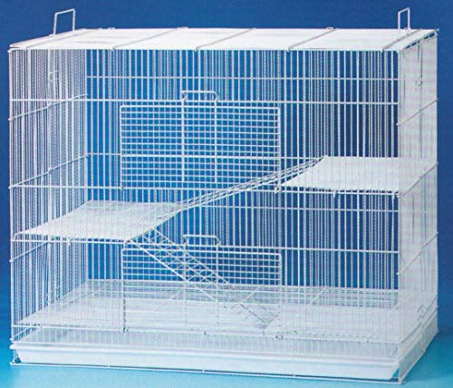 "New 3 Levels Ferret Chinchilla Sugar Glider Rats Mouse Animal Cage 24"" L x 16"" W x 24"" H with Tight 3/8-Inch Bar Spacing"