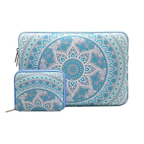 Canvas Laptop Sleeve Case For Notebook Sleeve Case Pro 15 Touch bar Mandala-Blue