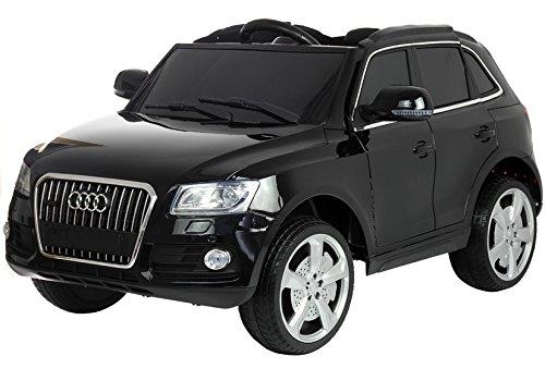 Kinderfahrzeug Elektroauto für Kinder Audi Q5 Schwarz (lackiert) Eva-Reifen Ledersitz 2.4G Fernbedienung