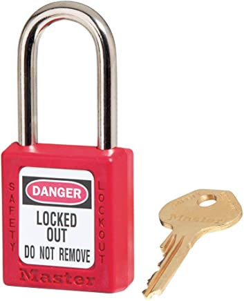 Red Bumper Master Lock 3KAMKRED Safety Lockout Master Keyed Padlock with 3//4-inch Clearance
