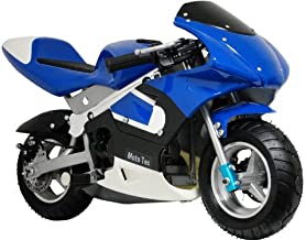 MotoTec Gas Pocket Bike 33Cc 2 Stroke Blue