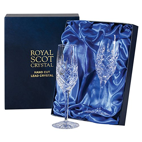 Royal Scot Crystal London champagne paire de flûte