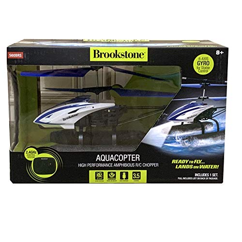 Brookstone Hi-Tech Amphibious RC Helicopter with Remote Control - Aquacopter