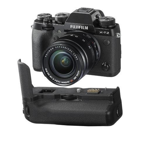 Fujifilm X-T2 Mirrorless Camera with XF 18-55mm f/2.8-4 R LM OIS Lens, Black Vertical Power...