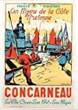 Concarneau Bretagne Kunstdruck Poster, Format 50 x 70 cm,