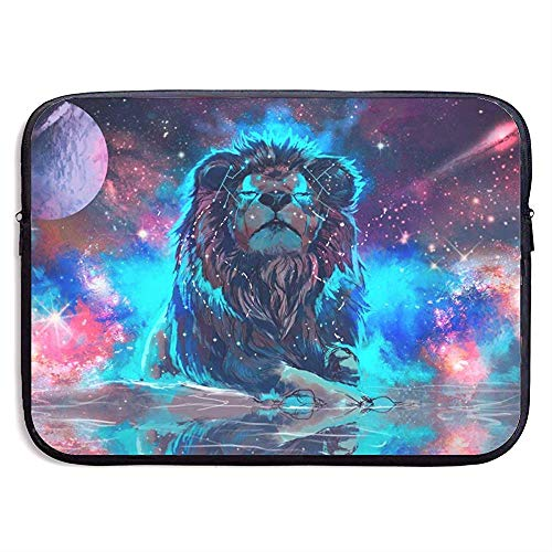 Lion Planet Water Laptop Sleeve- Stylish Cute Neoprene Notebook Handbag 33cm*25.5cm*3.5cm