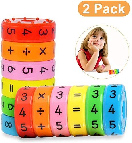 Sunshine smile Mathematik Spielzeug Kinder,Rechenrolle Spielzeug,Mathematik Lernen Spielzeug,Rechnen Lernspielzeug,Mathe Spielzeug (2 Pack)