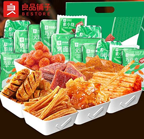 Chinese Specialty Snacks latiao 良品铺子-辣条味大礼包 618g