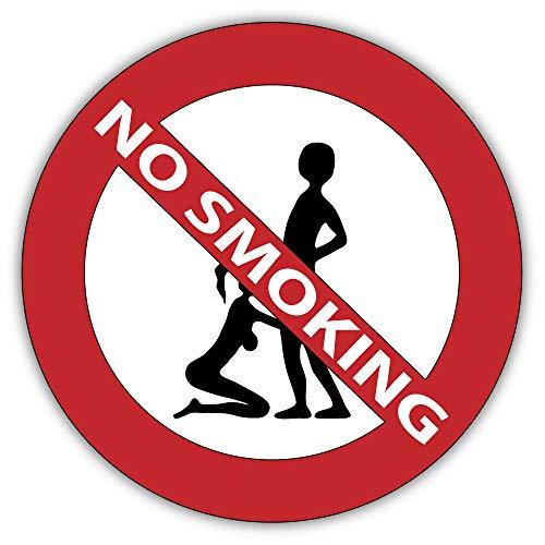 valstick No Smoking Sex Funny Adult Ban Stop Sign Car Bumper Sticker Decal