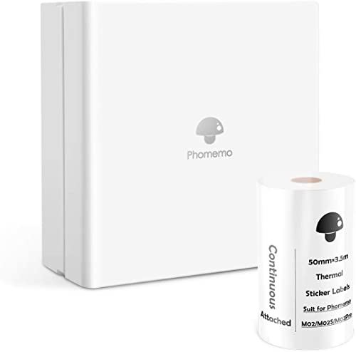 Phomemo Bluetooth Printer - M02 Mini Pocket Size Thermal Wireless Printer, Compatible with Ios & Android, Printer for...