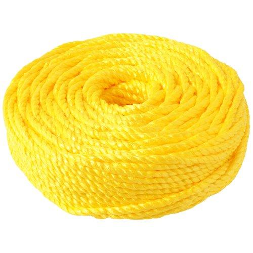 新潟エースロープ 熔着エースロープ 12×100m 黄 No.340 1.5kg