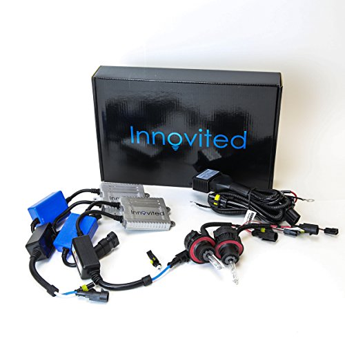 Innovited Premium AC Canbus Error Free HID Bundle - No Flicker with (1 Pair) Ballast and (1 Pair) Xenon Bulb - H13-3 9008-5000K Bi xenon HI/LO - Pure White