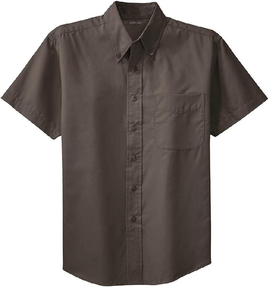 Joe's USA tm - Mens Large Tall Short Sleeve Easy Care Shirts