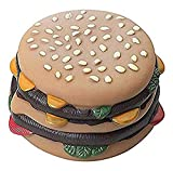 Ethical Hamburger with Tomato and Pickle 3-1/2-Inch Vinyl Dog Toy