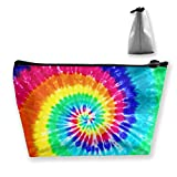 Women Colorful Tie Dye Cosmetic Bags Makeup Bag Hand-held Toiletry Travel Organizer for Girl Make Up Tools Toiletries