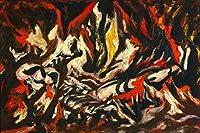 Jackson Pollock ジクレープリント キャンバス 印刷 複製画 絵画 ポスター (炎)