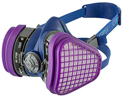 GVS SPR467 Elipse OV-P100 Dust and Organic Vapour Half Mask Respirator with Replaceable and Reusable Filters Included