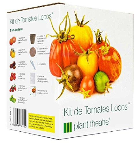 Plant Theatre Kit de Tomates Locos - 6 variedades extrañas y maravillosas para crecer -...