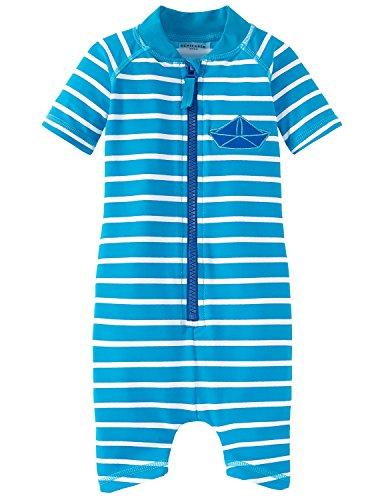 Schiesser Schiesser Baby-Jungen Aqua Jumpsuit Einteiler, Blau (Blau 800), 80 (Herstellergröße: 413)