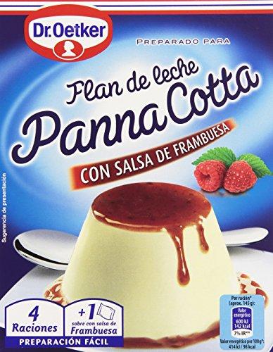 Dr. Oetker - Panna Cotta con salsa de frambuesa - Flan de leche - 110 g