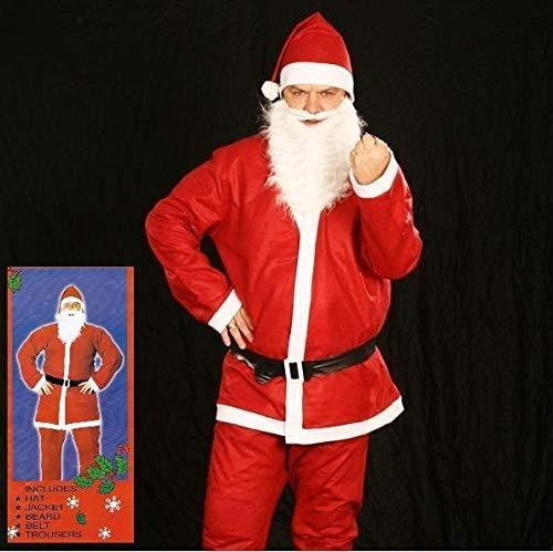 Weihnachtsmann Kostüm Santa Claus Nikolauskostüm Komplett 5-teilig Set