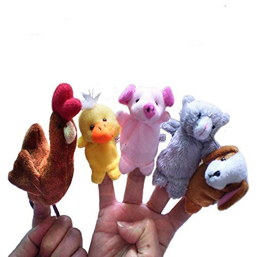 Storytelling the Little Red Hen Finger Puppet 5pc