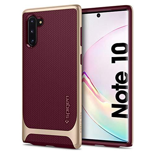 Spigen Neo Hybrid Kompatibel mit Samsung Galaxy Note 10 Hülle, Zweiteilige Handyhülle Modische Muster Silikon und PC Rahmen Schutzhülle Case Burgundy 628CS27383