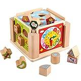 SongMyao Juguetes Apilables de los niños Building Blocks Puzzle Emparejar múltiples Funciones de Madera de los Bloques Huecos Coloridos Juguetes Smart Box Forma Bloques De Construcción De Colores