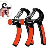 Huttoly Handtrainer, 2er-Set Hand Trainingsgerät 5-60kg Einstellbarer Widerstandsbereich Unterarm...