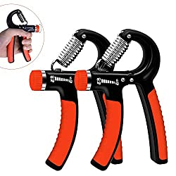Huttoly hand trainer, set of 2 hand training device 5-60kg adjustable resistance range forearm strength training heavy wrist dumbbell hand muscle trainer